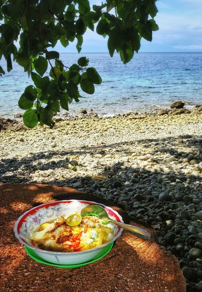 Indomie Landscape Noodle No People Tranquility Sky Cloud - Sky Water_collection Sea And Sky AmbonIsland Lifestyles EyeEm Nature Lover Beach Localfood Traditionalfood Plant Summer Sea Connected By Travel