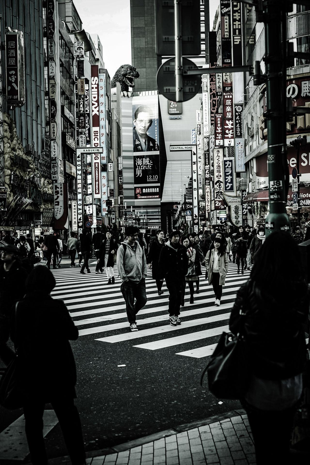 City City Life Street City Street Snapshots Of Life Streetphotography Tokyo,Japan SHINJYUKU Godzilla