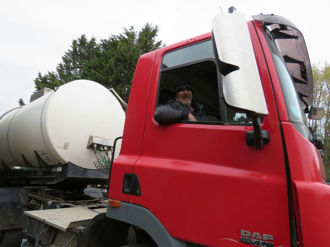 Me In A Milk Tanker At Redhill Truckerslife Transport My Truck
