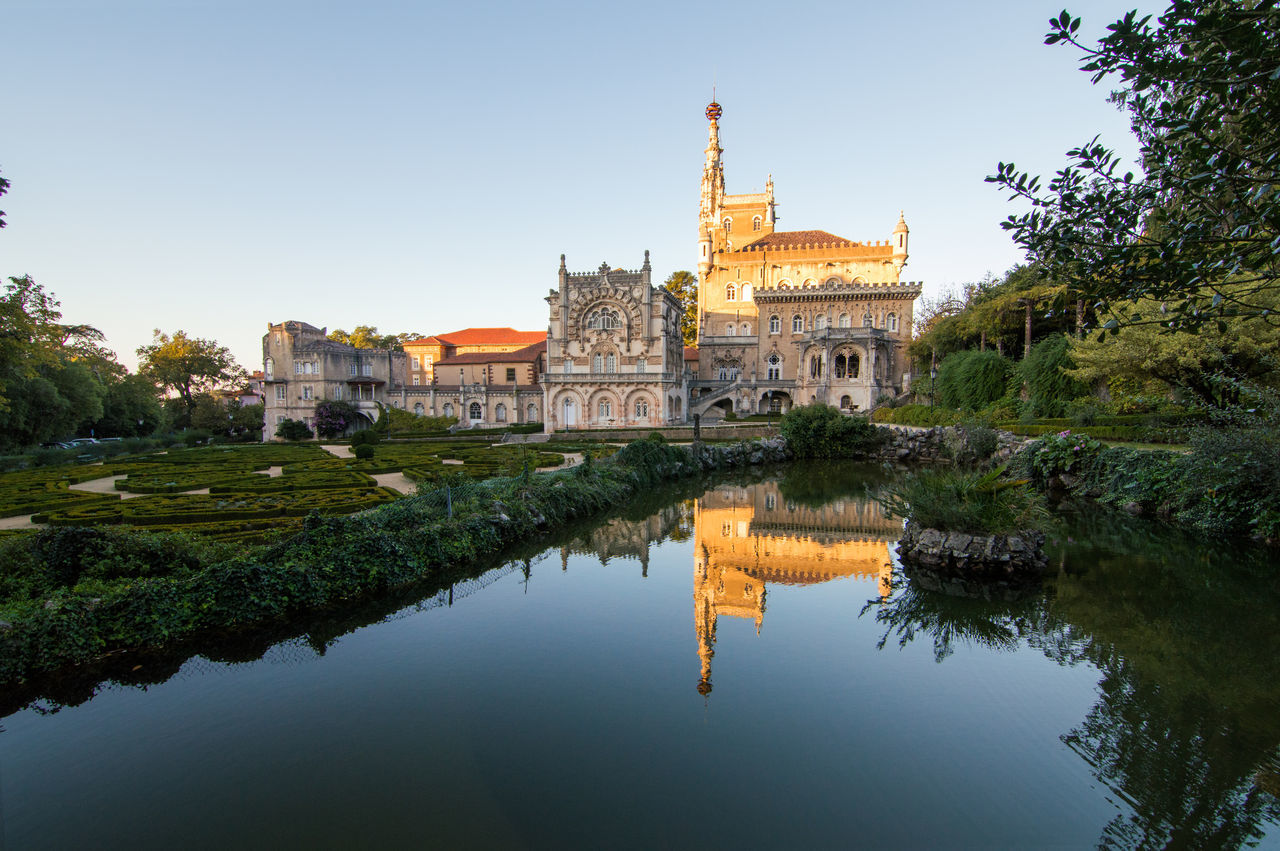 Bussaco - Portugal Architecture Building Exterior Built Structure Clear Sky Day History Lusoportugal Nature No People Outdoors Place Of Worship Reflection Religion Sky Spirituality Tourism Travel Travel Destinations Tree Water
