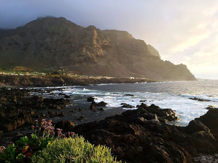 Sea Beach Horizon Over Water Travel Destinations Vacations Beauty In Nature Scenics Landscape Outdoors Tenerife Island Tenerife Holiday❤😎🛫🛫 Water Rock - Object Taking Pictures Sky Day Tenerife Buena Vista Tenerife❤ Beauty In Nature Tenerife In Clouds Summer ☀ Nature