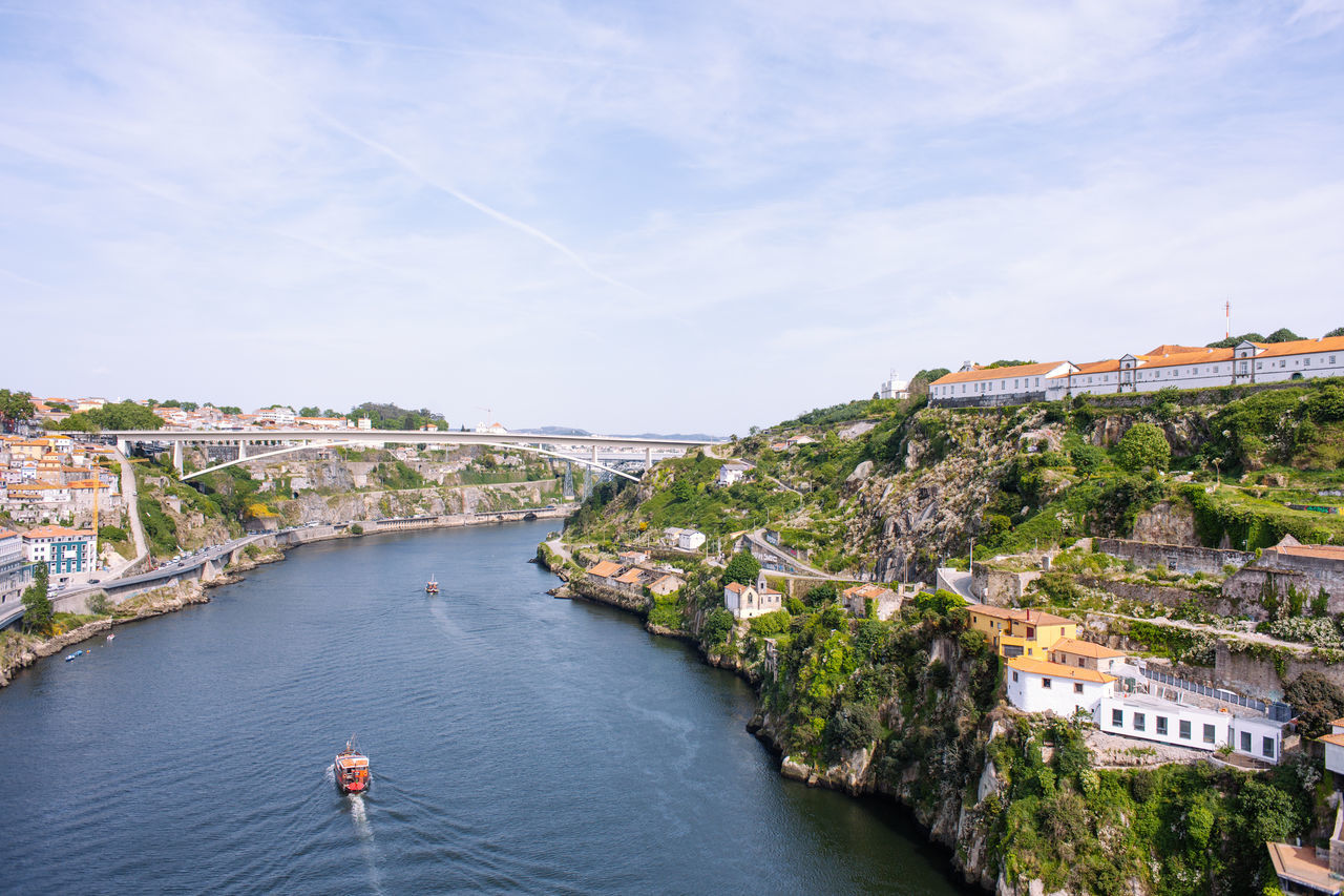Douro river from Dom Luís I Bridge Architecture Bridge Building Building Exterior Built Structure Cliff Day Douro  Geology High Angle View Louis No People Outdoors Porto Portugal River Rock Sky Travel Destinations Tree Water
