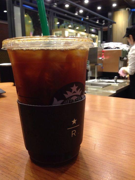 Here all alone... Cafe Americano Iced Coffee Enjoying Life