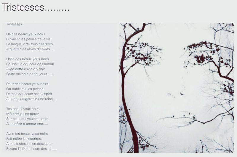 Poème promis.....poème du..... Pour Gwen Caron Tristesse Yeux Noirs