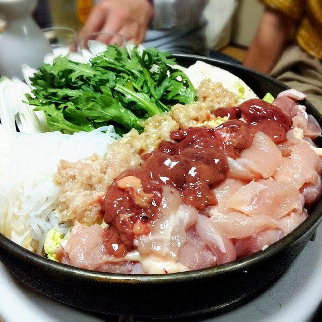 "My favorite Food ""TORINABE""(^-^)/鶏料理 鍋奉行 Vegetable 肉料理 yummy"