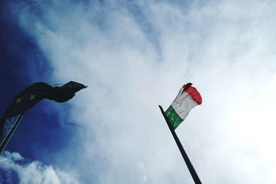 Italy Flag Sky Italian 25 Aprile