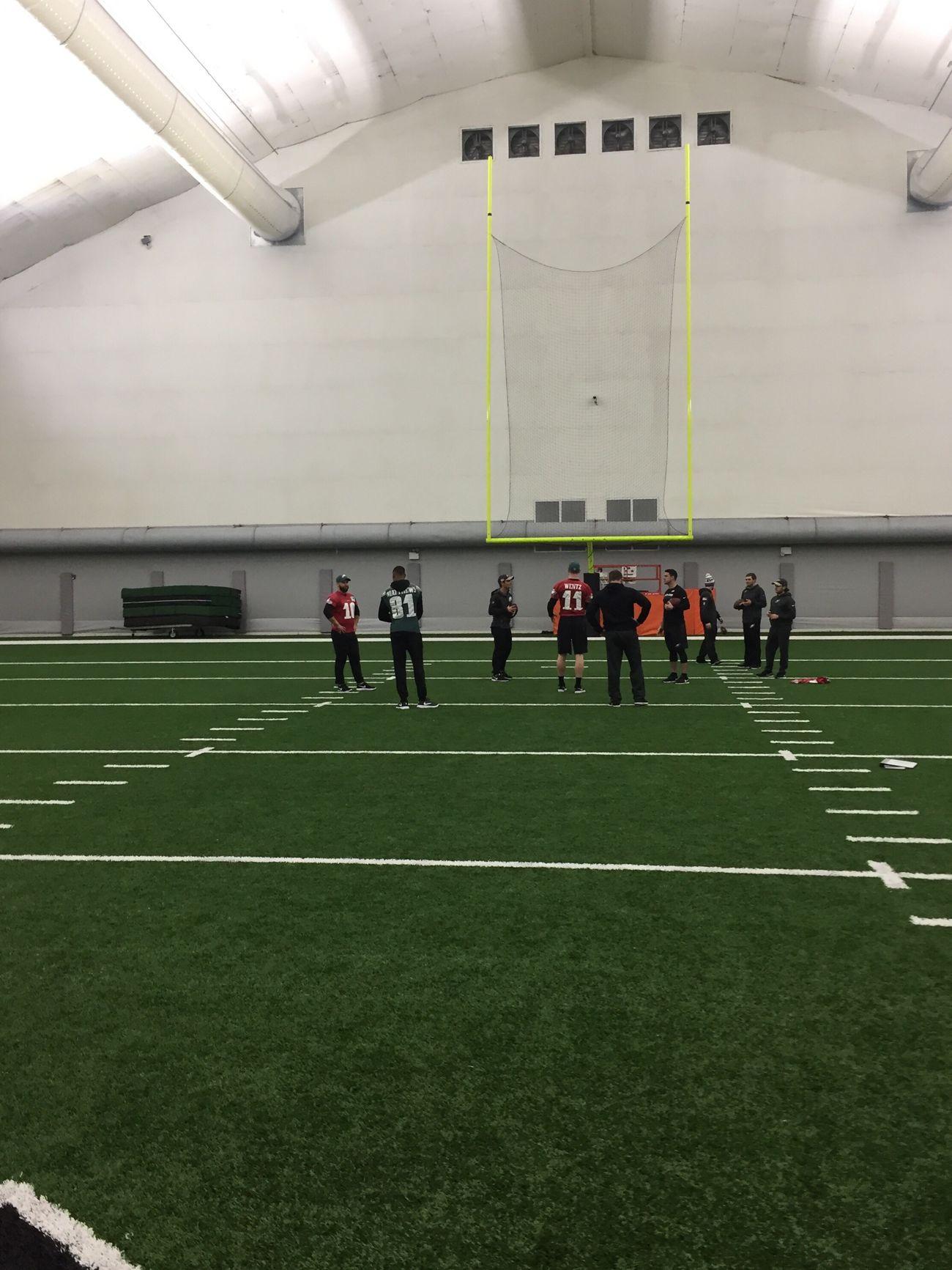 Philadelphia Eagles Carsonwentz practice NFL Football