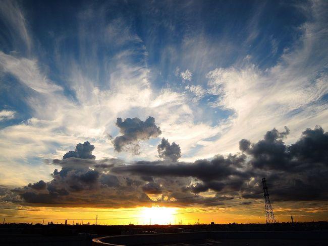 おつかれさま。 Sunset NikonP330 夕暮れ時 Afterglow おつかれさま Twilight