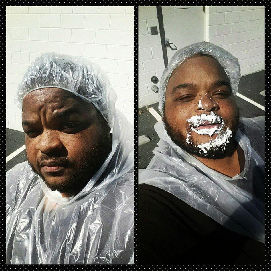At Work Workselfie Pieintheface raising money for ACS Americancancersociety Santaclaus Gotsomethingonmyface Whippedcream