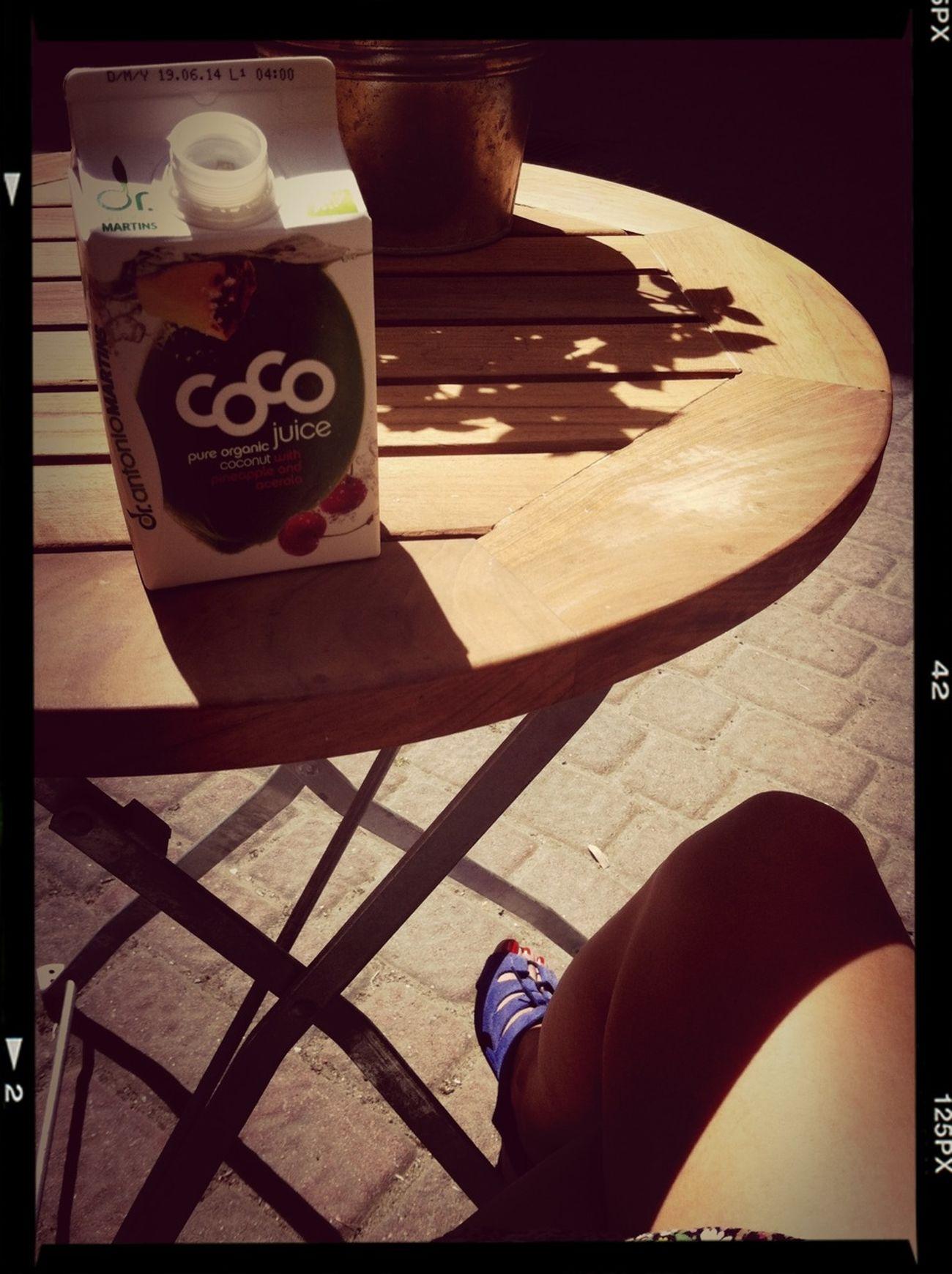 Enjoying The Sun Coconut On A Health Kick After Yoga