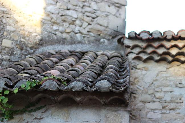 Architecture France House Rhonealpes Roof Stone Summer Vaisonlaromaine