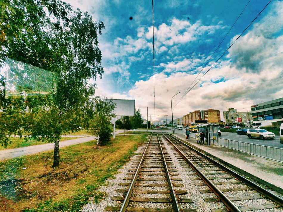 Мой любимый город.Battle Of The Cities Railroad Track Transportation Tree Rail Transportation Public Transportation Sky Cloud - Sky The Way Forward Day Diminishing Perspective Railroad Station Long Journey Outdoors Straight Vanishing Point Railway Track No People Xiaomi Yi Action Camera