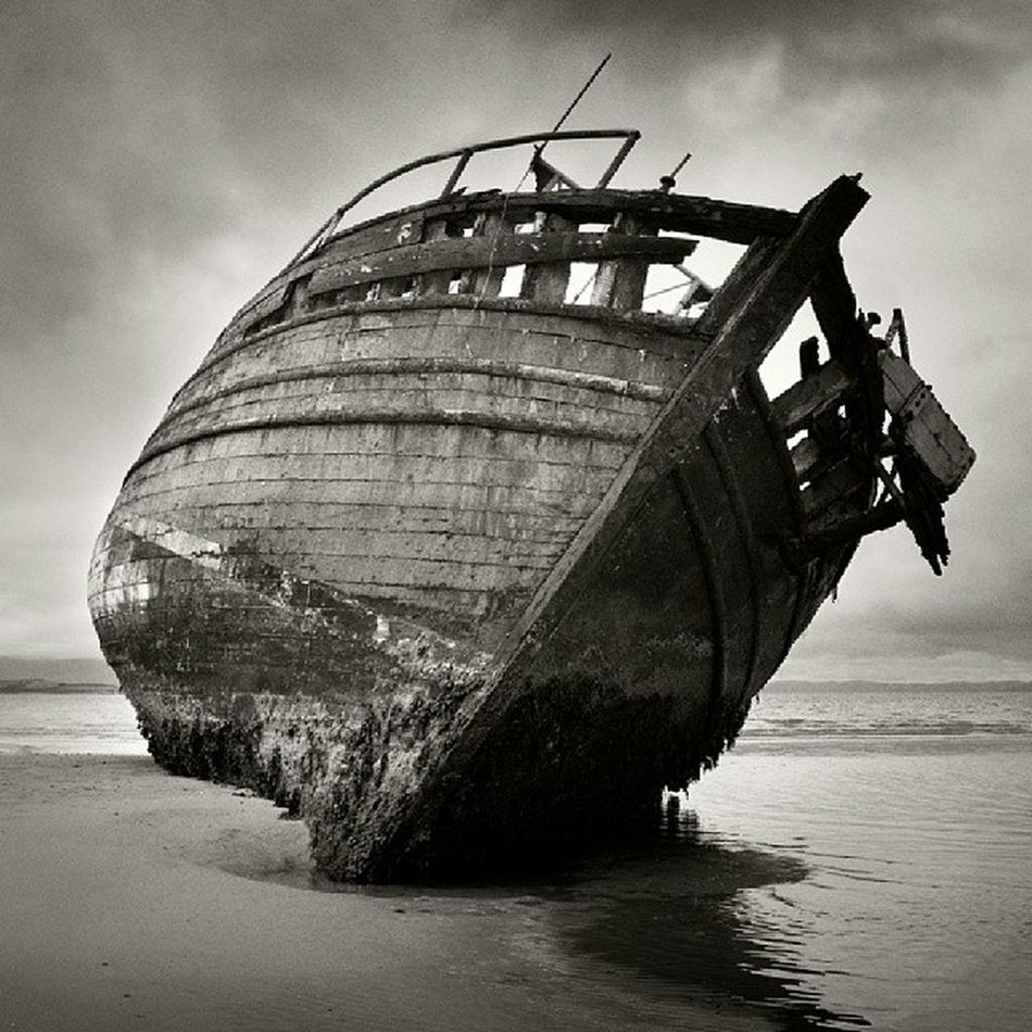 The wreck of the 'co-worker' Ettrickbay Bute  Argyll Scotland landscapes seascapes