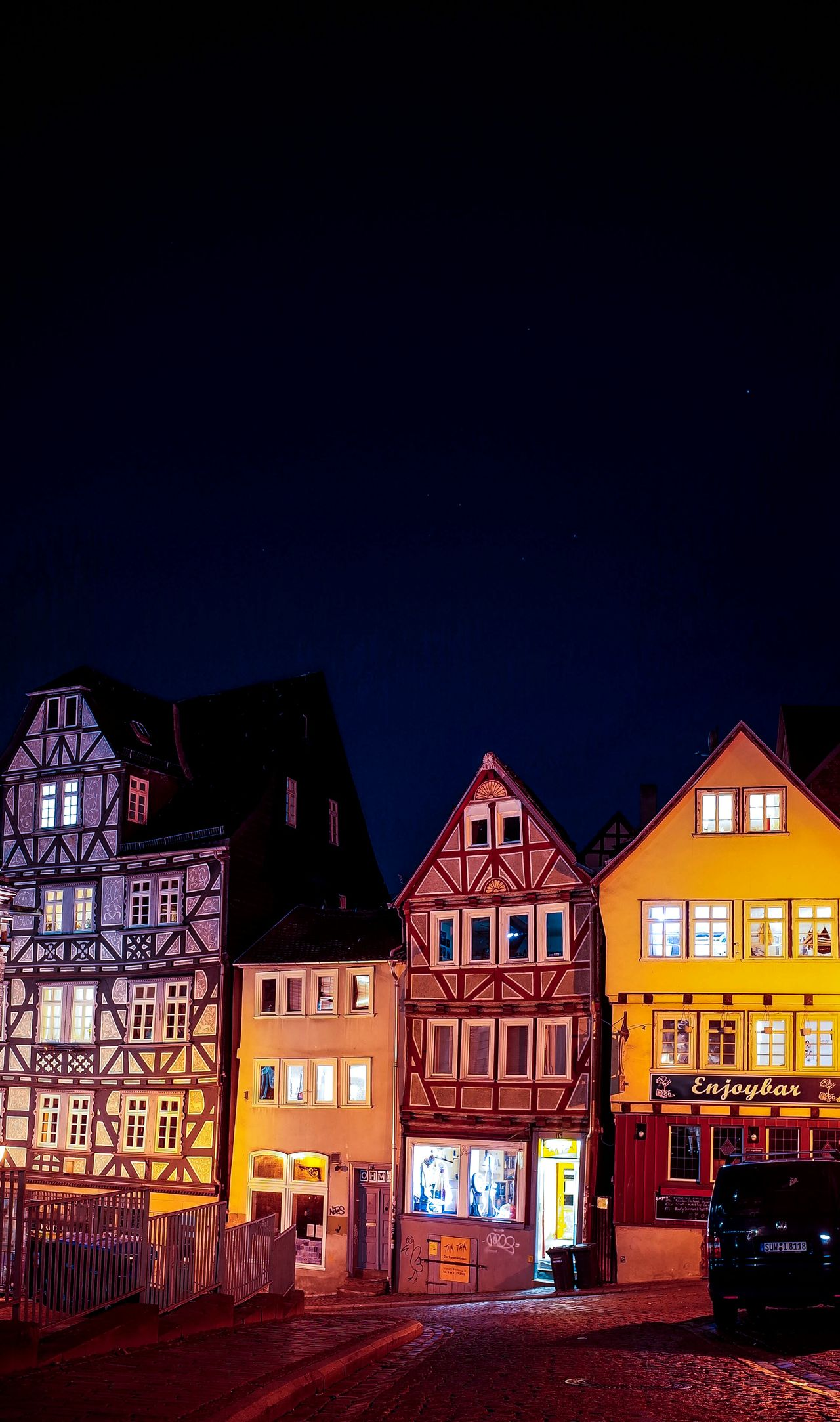 Night City No People Architecture Outdoors Sky Illuminated Marburg An Der Lahn