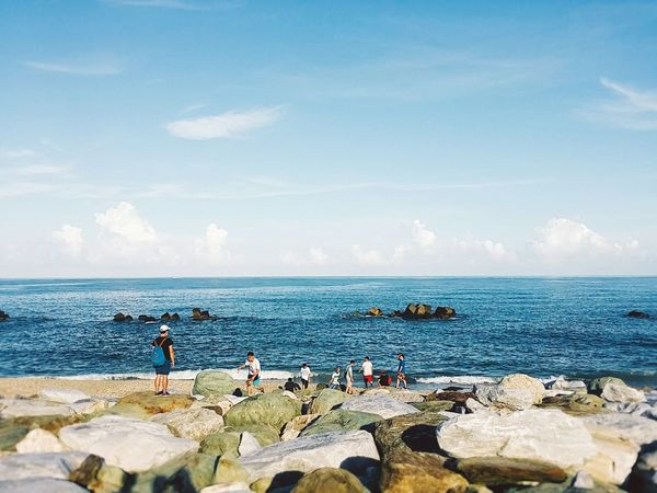 With junior high school's friends at Hualien,Taiwan Beach Vacations Leisure Activity Enjoyment Summer Taiwan Hualien, Taiwan Outdoors Beauty In Nature Cloud