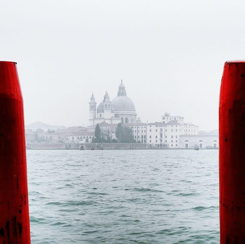 Venice Italy Red Original Frame Venezia SantaMariadellaSalute Rosso