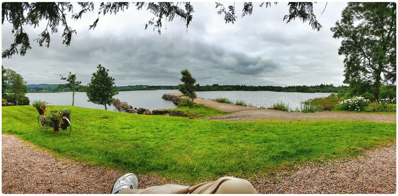 Sitting on a bench by Lough Eske. Panorama The View From Here Water Enjoying The Light Enjoying The Colours Not The Usual Quiet Moment 2015 08 12