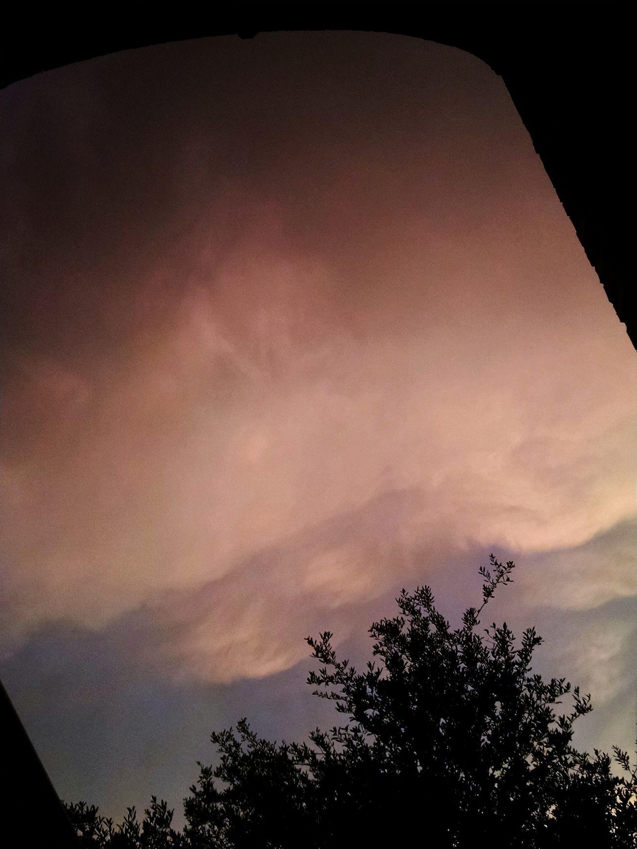 Stormy Weather Lastevening Beforetherain Splendor Myfrontdoorview Sky Orange Sky