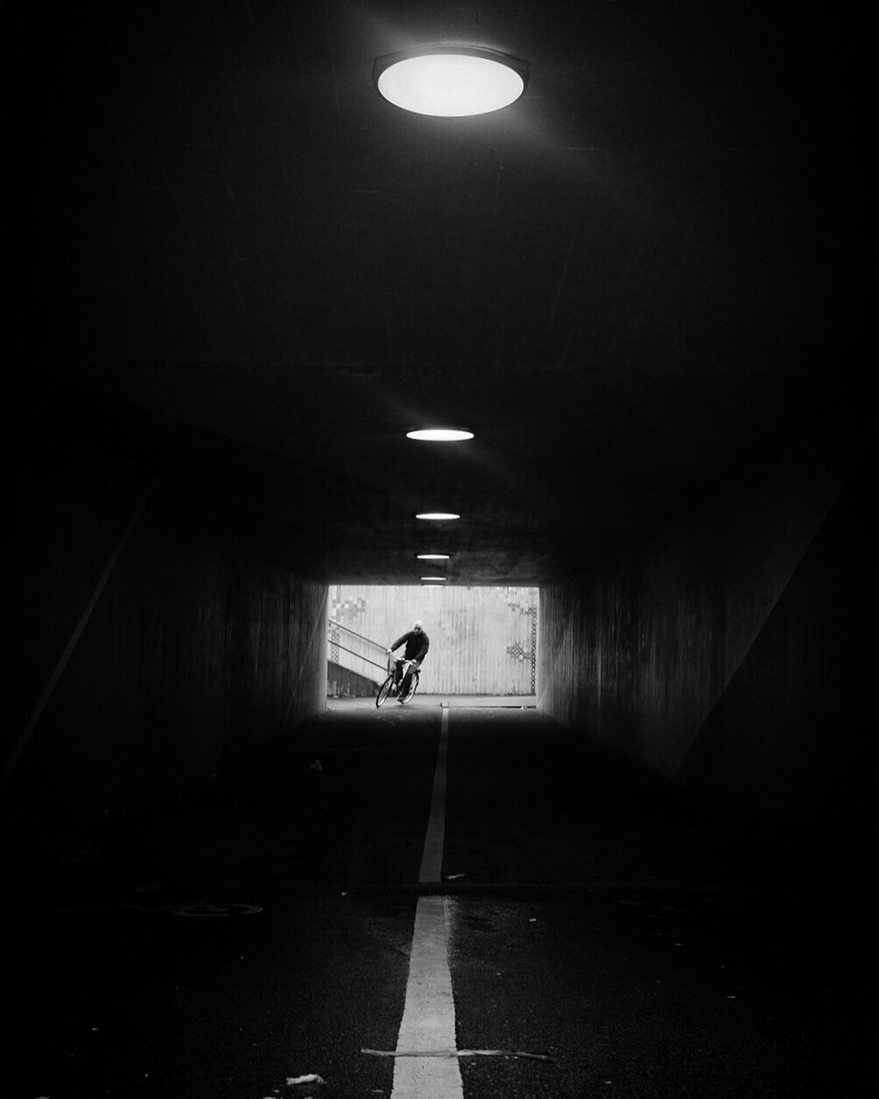 Tunnel Underground The Way Forward Silhouette Bw_collection Street Photography Black And White Monochrome Dark