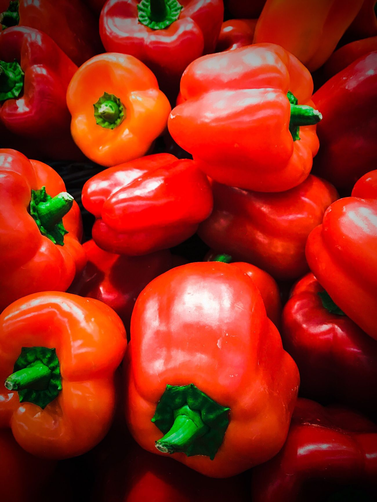 fresh tasty red bell peppers (capsicums) closeup on a stall. Red Vegetable Freshness Food And Drink Healthy Eating Food No People Close-up Backgrounds Outdoors Day Capsicum Pepper Red Red Bell Peppers Bell Pepper Healthy Food Healthy Salad Fresh Produce Fresh Diet Dietfood