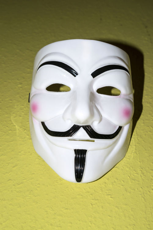 Animal Representation Anonymus Art Art And Craft Carving - Craft Product Close-up Composition Confidence  Creativity Fashion Front View Guy Fawkes Hacker Human Representation Ideas Indoors  Mask Portrait Sculpture Statue Temptation Tradition Vendetta Vendetta Mask