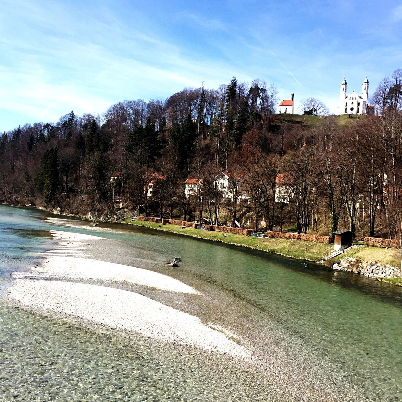 Green River Isar in Bad Tölz Sunny Day Church on the Hills Nice Day Eyemnaturelover Nature
