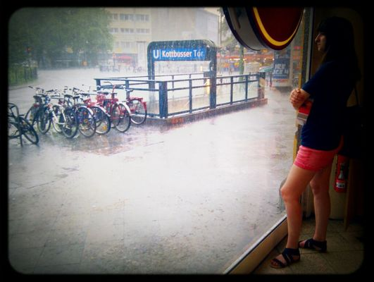 Rain at Kottbusser Tor by Severin