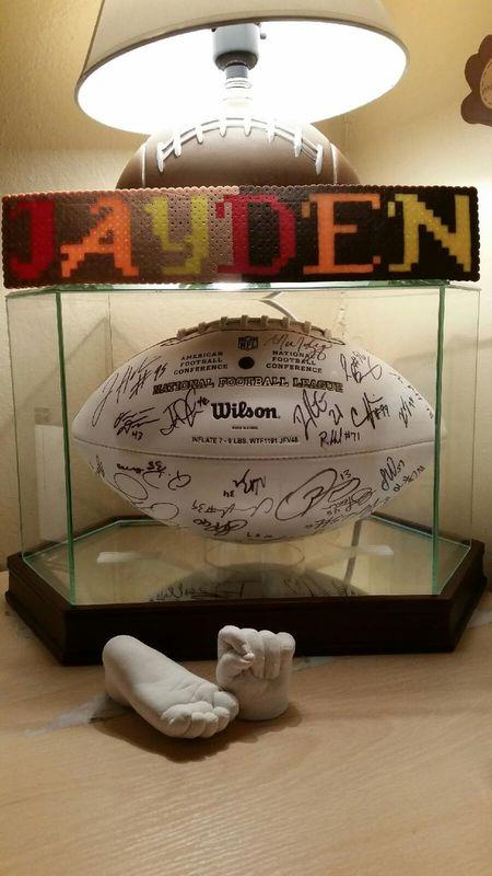 Jayden NFL Football , Hand &' Foot CAST :)