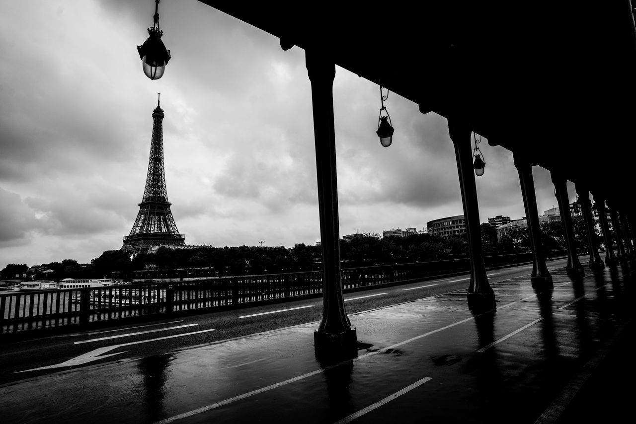 The majestic eiffel in all its glory Architecture Building Exterior Built Structure Capital Cities City Cloud - Sky Day Eiffel Europe No People Outdoors Paris Sky The Architect - 2017 EyeEm Awards Tourism Tower Travel Travel Destinations Water