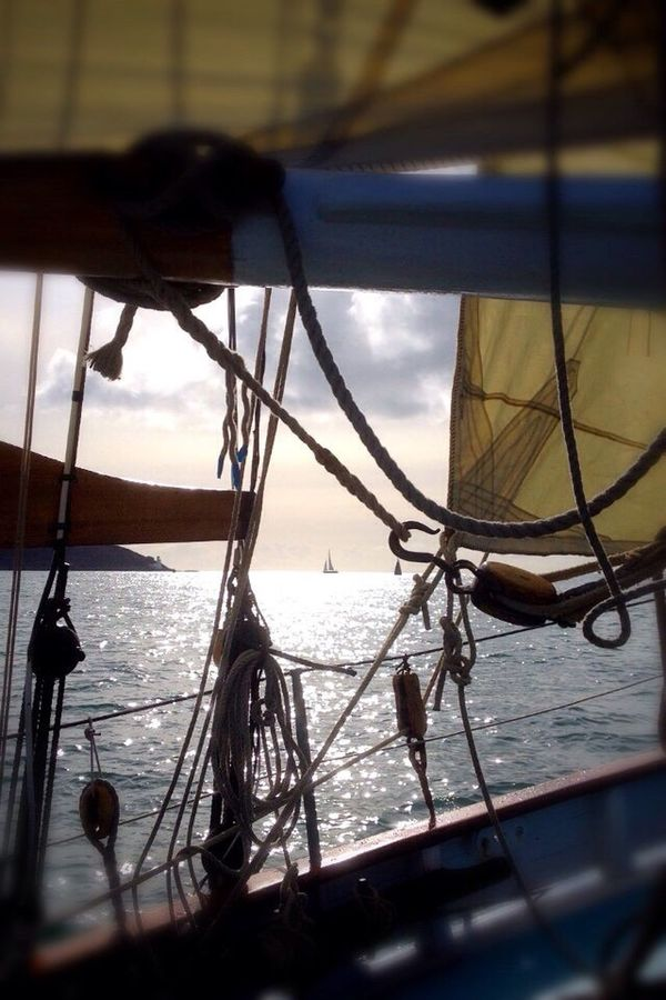 Water Sea Travel Destinations Cloud - Sky Sky Nature Scenics Tranquility No People Beauty In Nature Dramatic Sky Journey Pilot Cutter Wooden Boat Wooden Hull Sails Sailing St Mawes Cornwall The Color Of Sport Racing Live For The Story
