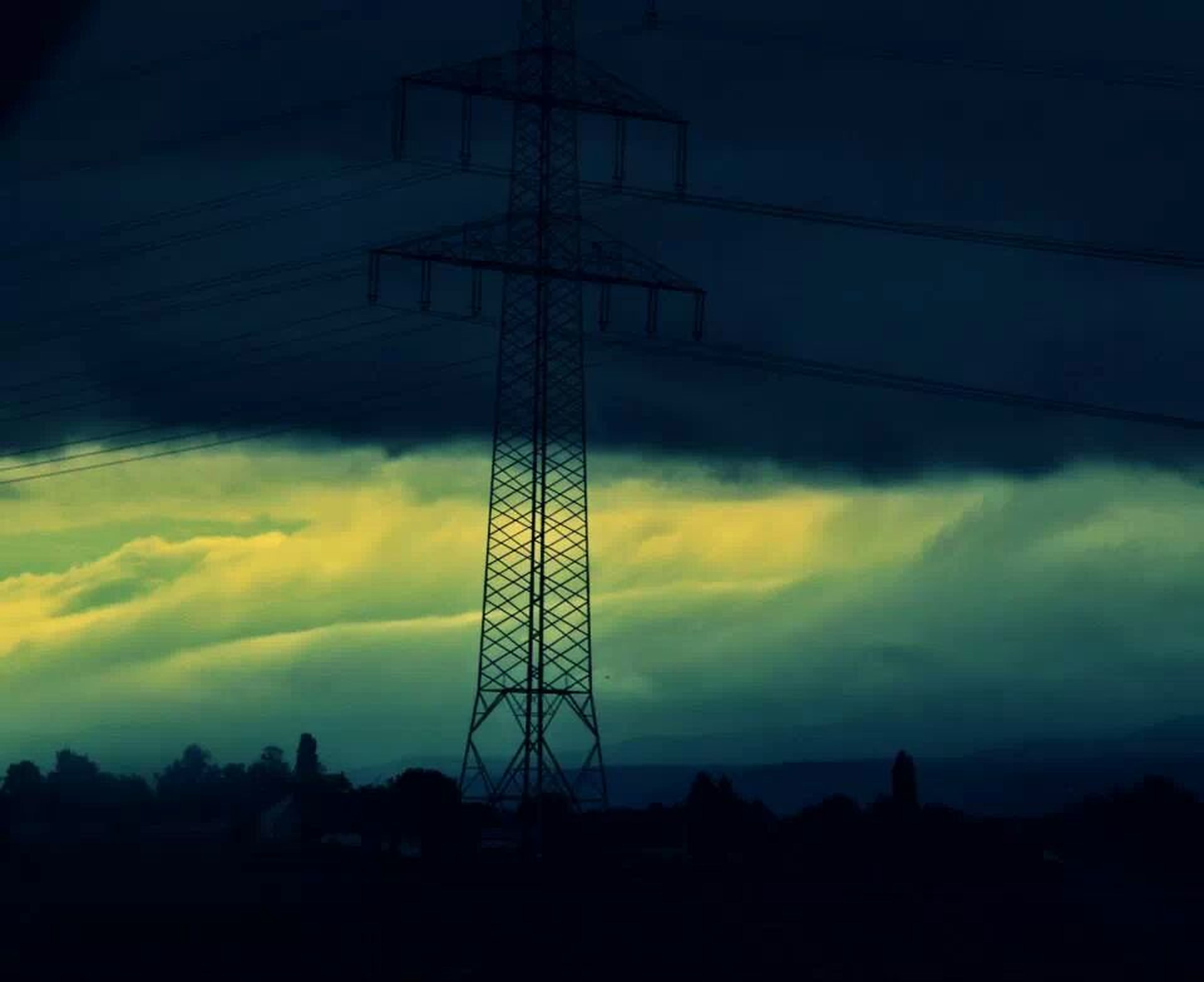 silhouette, electricity pylon, electricity, power supply, power line, sunset, fuel and power generation, sky, connection, technology, low angle view, cloud - sky, cable, built structure, dusk, cloud, nature, no people, outdoors, dark