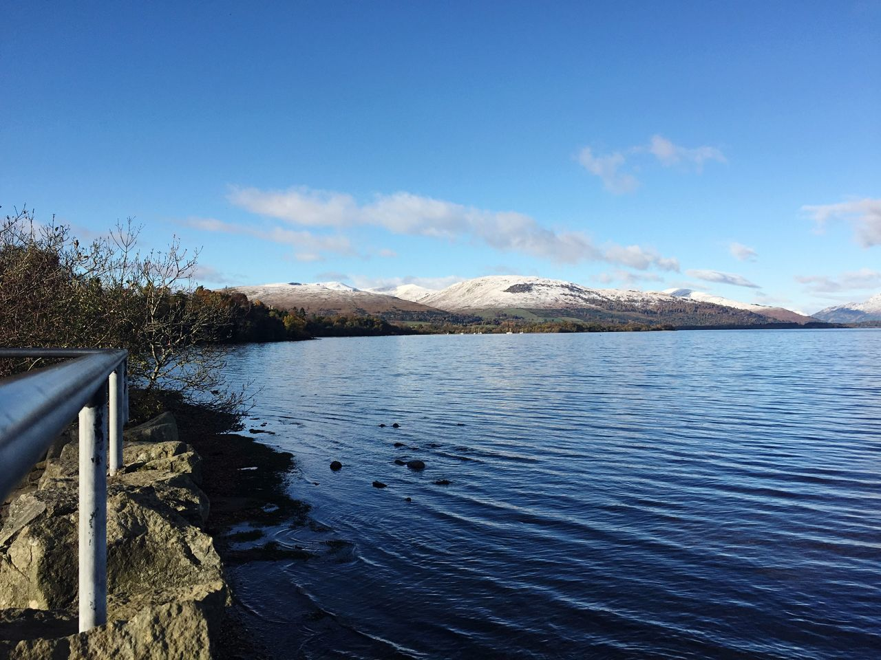 Mountain Range Beauty In Nature Scenics Tranquil Scene Idyllic Landscape Outdoors No People Day Snowcapped Mountain Weather LochLomond Remote Rural Scene Blue Water Waterfront