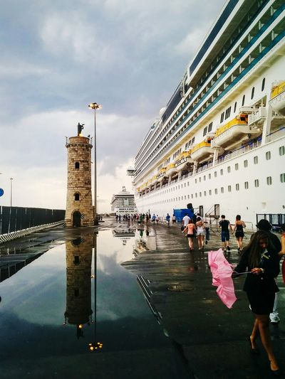 Embarking in Civitavecchia, Italy Taking Photos Puddleography Eye4photography  Open Edit Streetphotography The Traveler - 2015 EyeEm Awards Open Edit For Everyone Reflection
