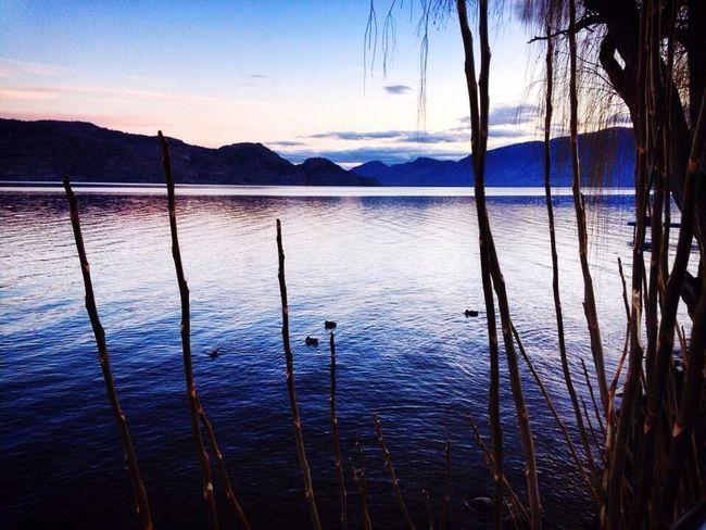 Beautiful Okanagan sunset Sunset Okanagan Valley Okanaganlake British Columbia Nature Peachland