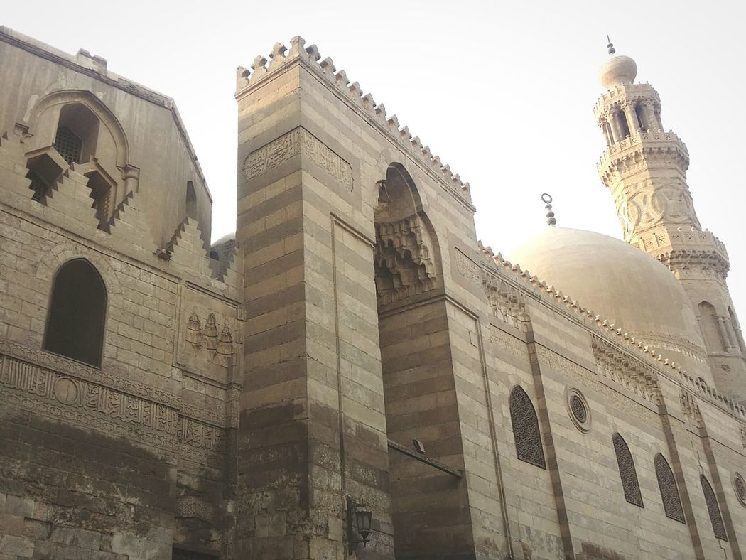 Cairo Architecture History Low Angle View Building Exterior Day Moezstreet Islamic Architecture Built Structure Travel Travel Destinations Religion No People Place Of Worship Dome City Sky Skyscraper Outdoors