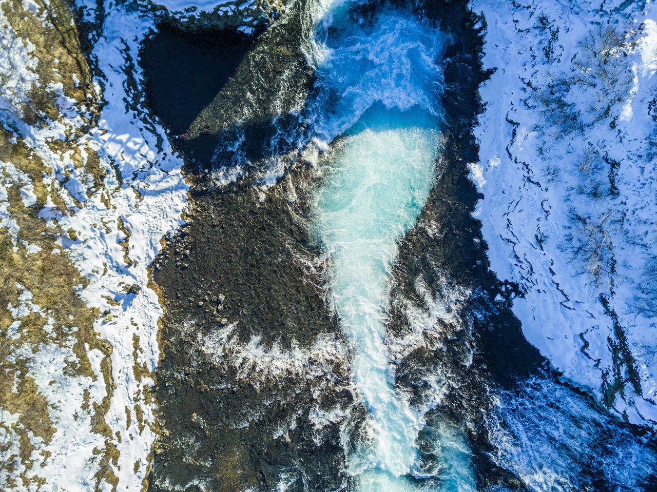 A self portrait. But I wonder if you can find me... Backgrounds Beauty In Nature Blue Day Dji Falls Flying Flying High From Above  Landscape Mavic Pro Motion Nature No People Outdoors Power In Nature Scenics Self Portrait Water Waterfall Winter