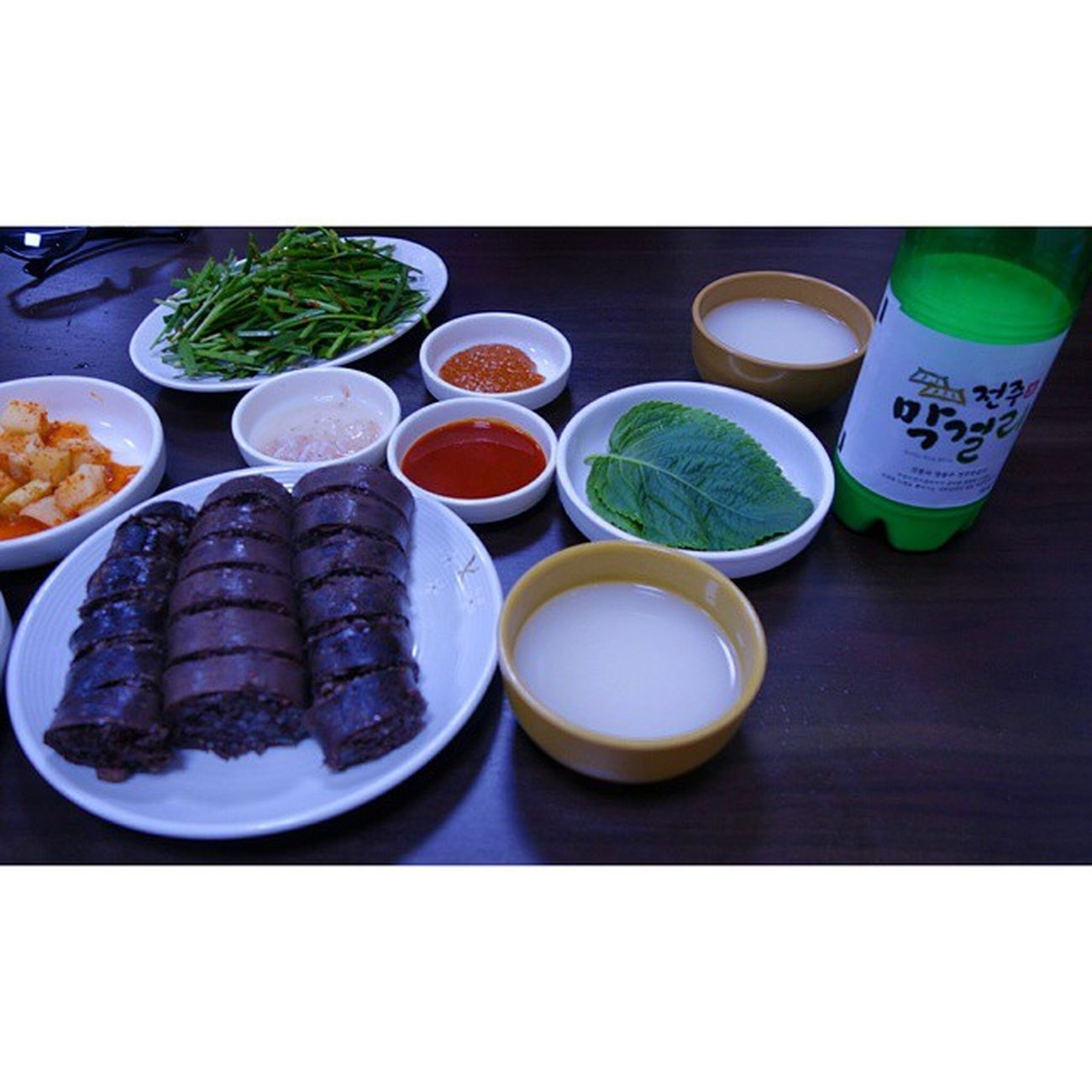 전주 피바다 가 아니라 피순대. Korea Jeonju Koreanfood 순대 전주