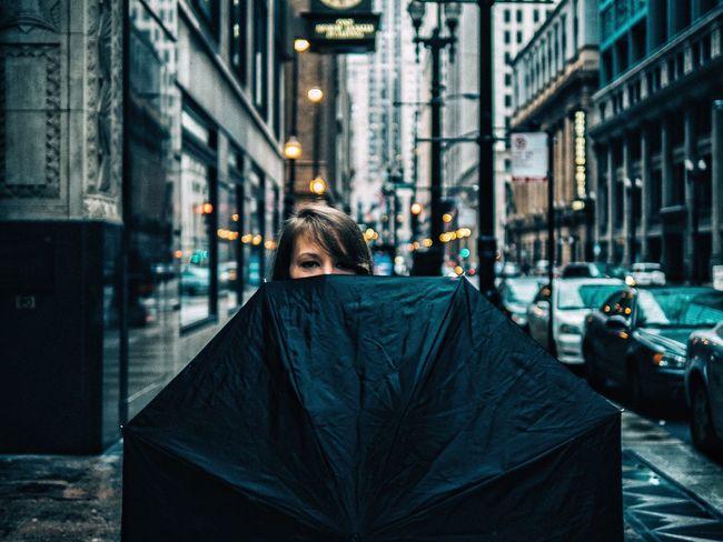 VSCO Urban Geometry Architecture Chicago Portrait Umbrella Street Photography Moody EyeEm Best Shots