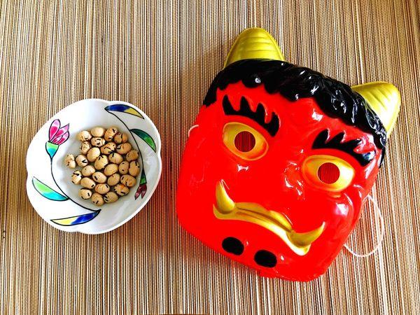 節分 Setsubun 鬼 👹 豆まき Demon Beans 福は内 鬼は外 we are wishing for our good health and happiness🙌🏻❤️ 20170203