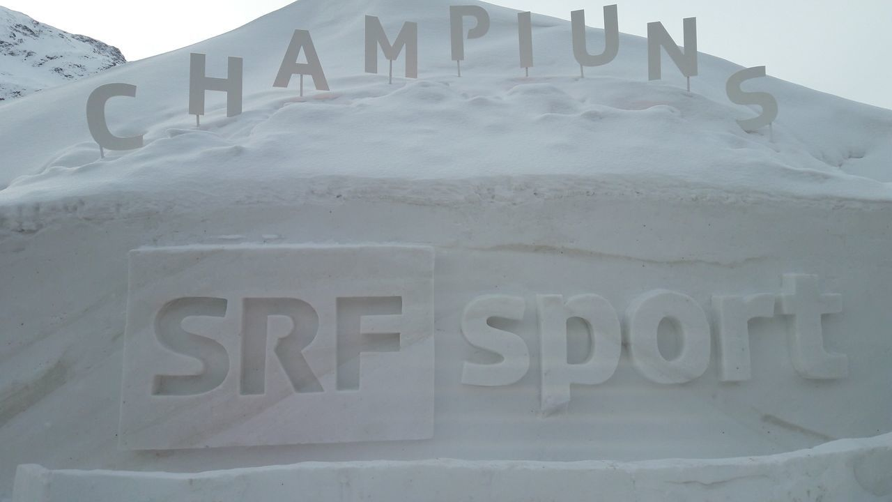 Text No People Outdoors Architecture Cold Temperature Snow Day Srf Srfsport Champiuns Ski Wm 2017 St Moritz 😍😍😍 Schweiz 🇨🇭,