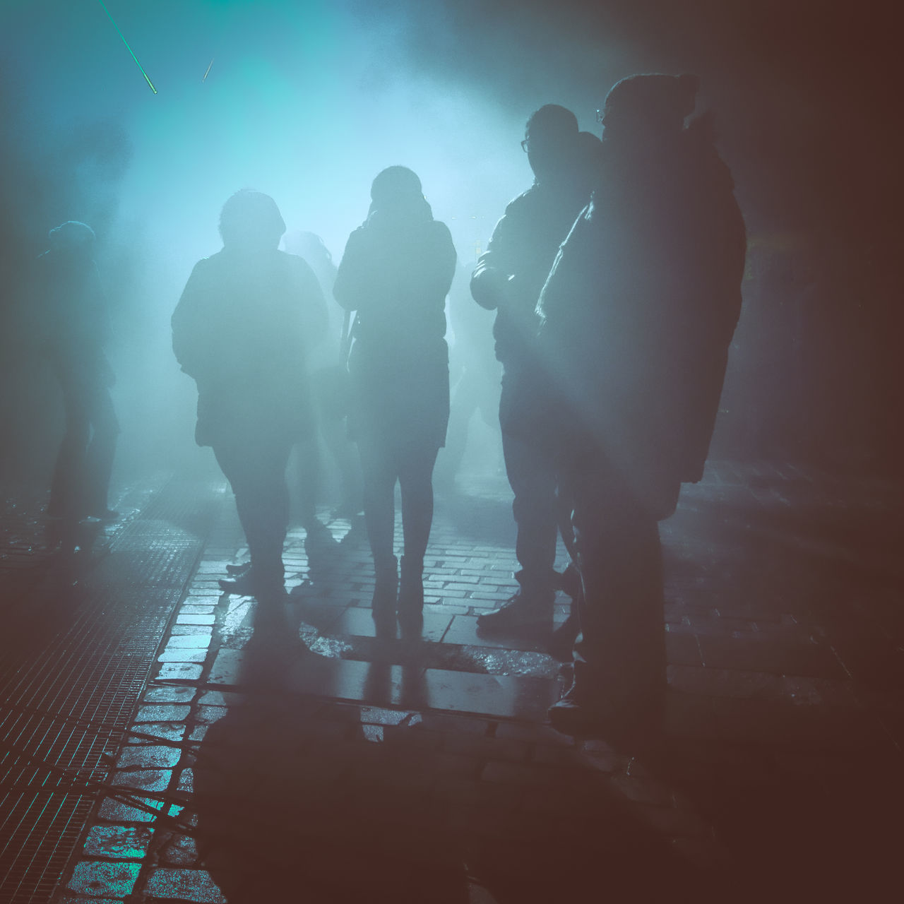 Fog Full Length Illuminated Leisure Activity Men Mysterious Mystery Night Outdoors Party People Real People Show Silhouette Smog Togetherness Women Streetphotography Festival Fest