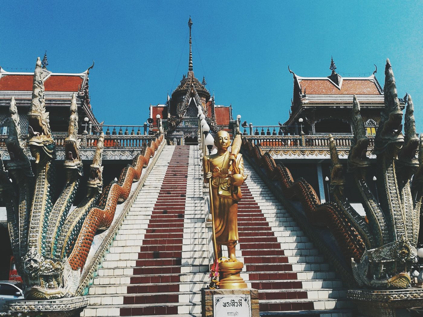 Temple Beautiful Monk  Thailand Bangkok Buddhism Buddha Sky Stairs ThaiTemple