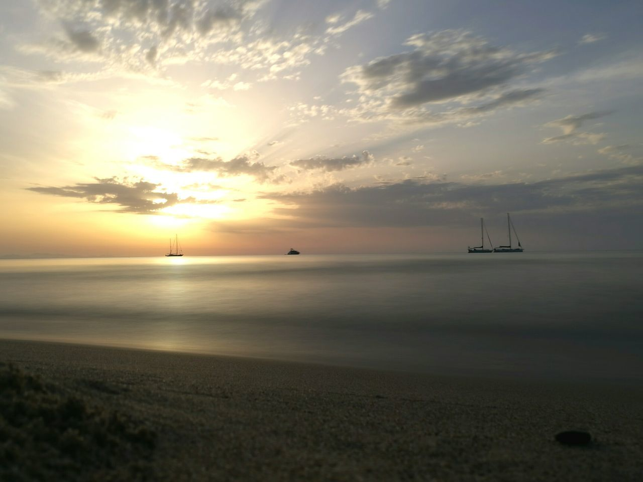 My Year My View Sea Sunset Horizon Over Water Beauty In Nature Water Nature Day Tramonto Nautical Vessel Outdoors Scenics Landscape Beach Sailing Ship Cloud - Sky No People Sailboat Sky Yachting