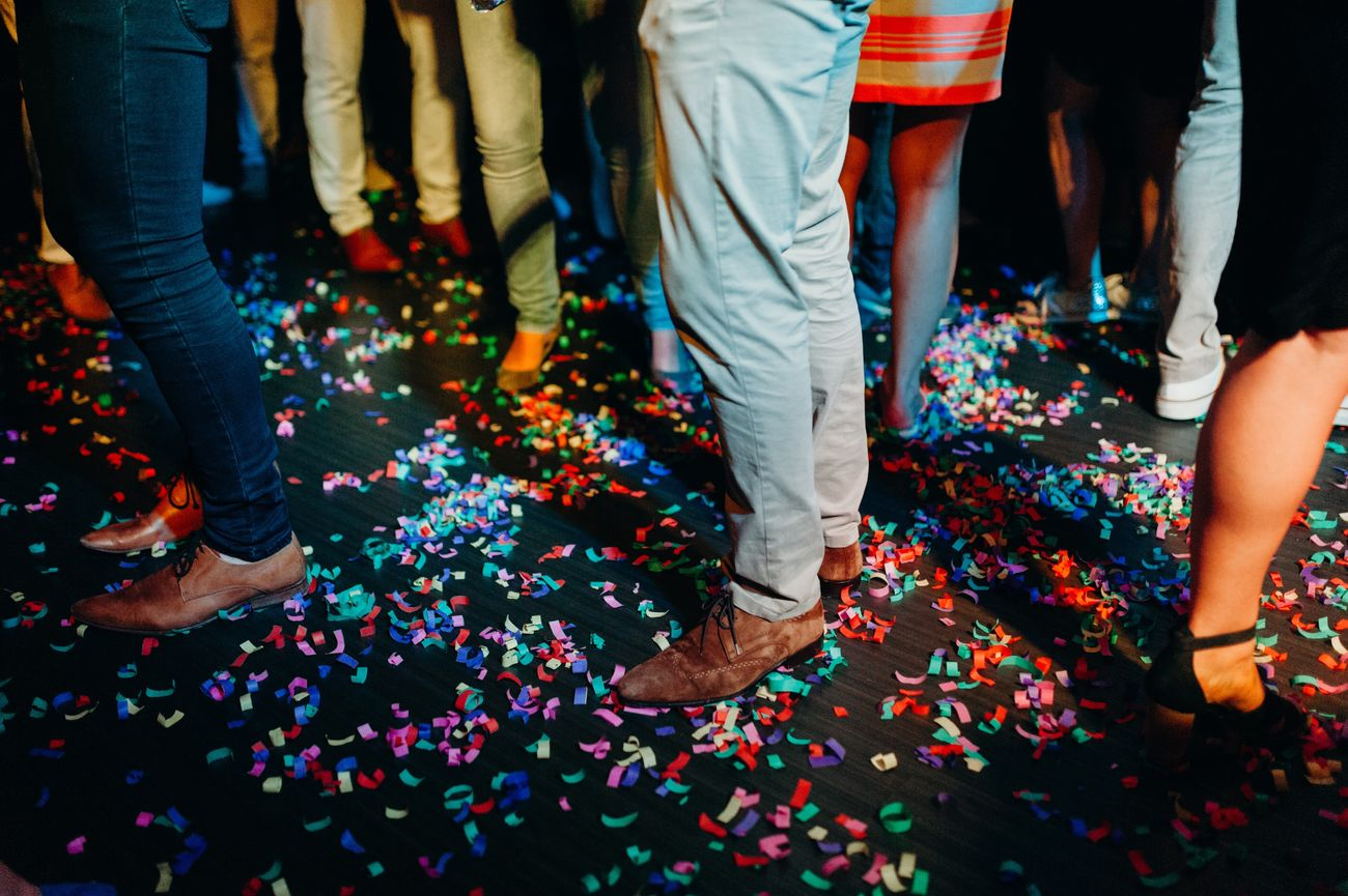 Celebration Low Section Confetti Party - Social Event Multi Colored Human Leg Men Fun Human Body Part Togetherness Adult Women People Real People Crowd Night Group Of People Indoors  Adults Only Happiness Focus On Foreground EyeEm Best Shots EyeEmNewHere Check This Out Portrait