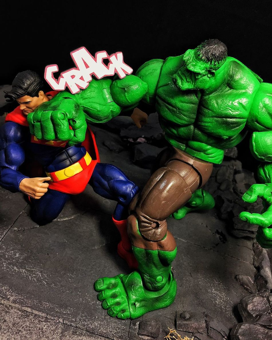 Hulk v. Superman Ata_dreadnoughts Marvellegends Toybiz Marvel DC Superman Hulk