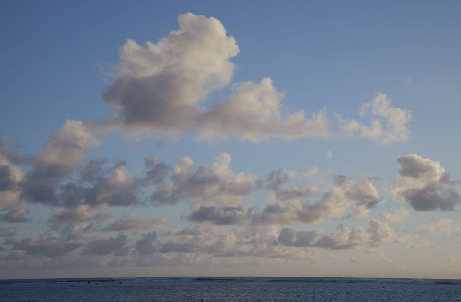 Cumulus Clouds above South Pacific Ocean at Sunset - Rarotonga, Cook Islands, Polynesia Beauty In Nature Cloud Cloud - Sky Cloud_collection  Cloudporn Clouds Clouds And Sky Cloudscape Cumulus Cloud Horizon Horizon Over Water Meteorology Nature No People Ocean Pacific Ocean Scenics Sea Sea And Sky Sky Tranquility Tropical Tropical Climate Water Weather