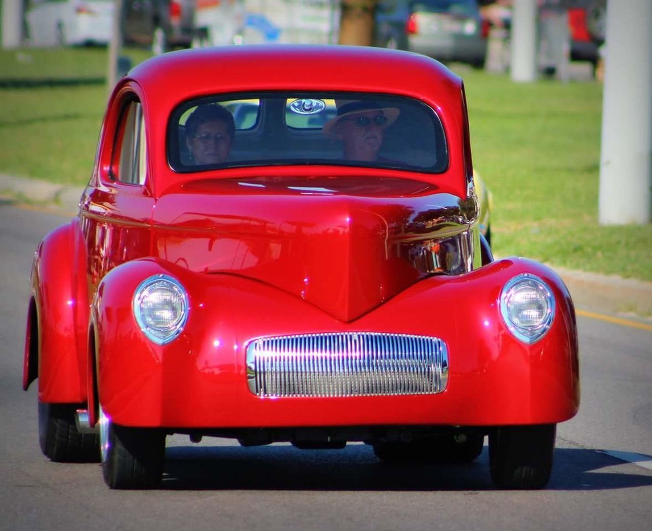 red, transportation, land vehicle, mode of transport, car, outdoors, day, no people, close-up