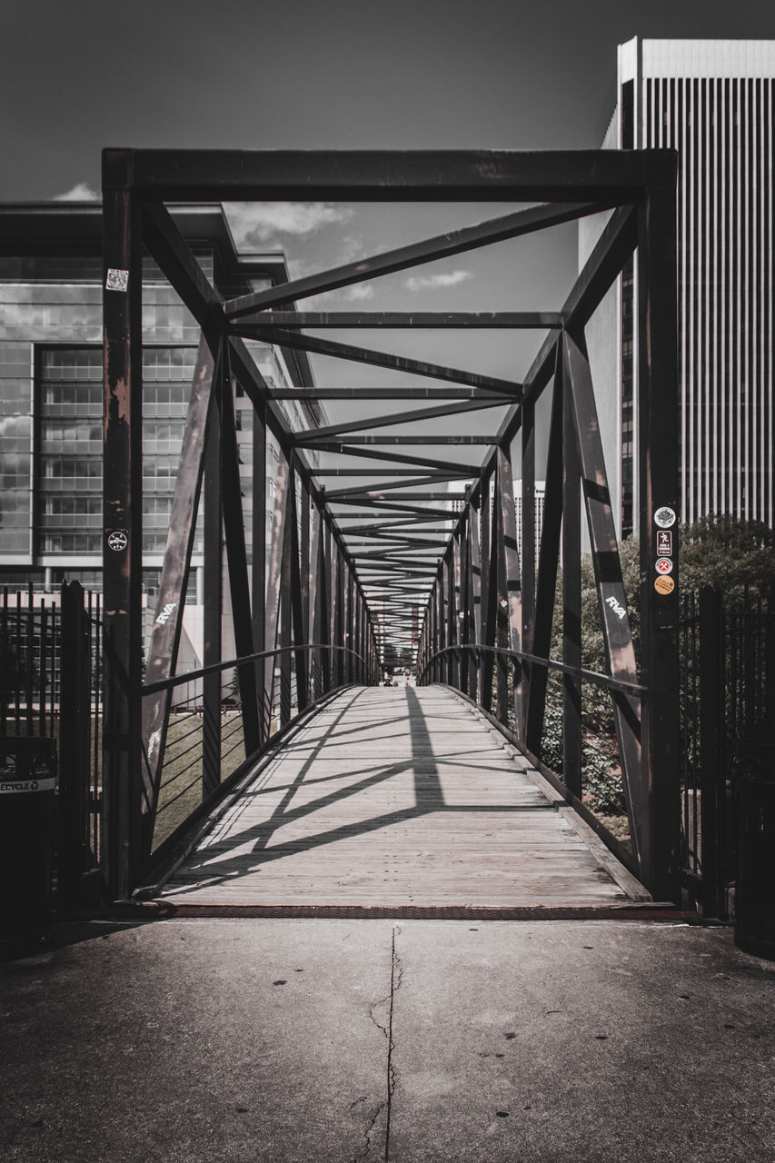 bridge - man made structure, architecture, built structure, the way forward, connection, transportation, outdoors, day, footbridge, no people, city