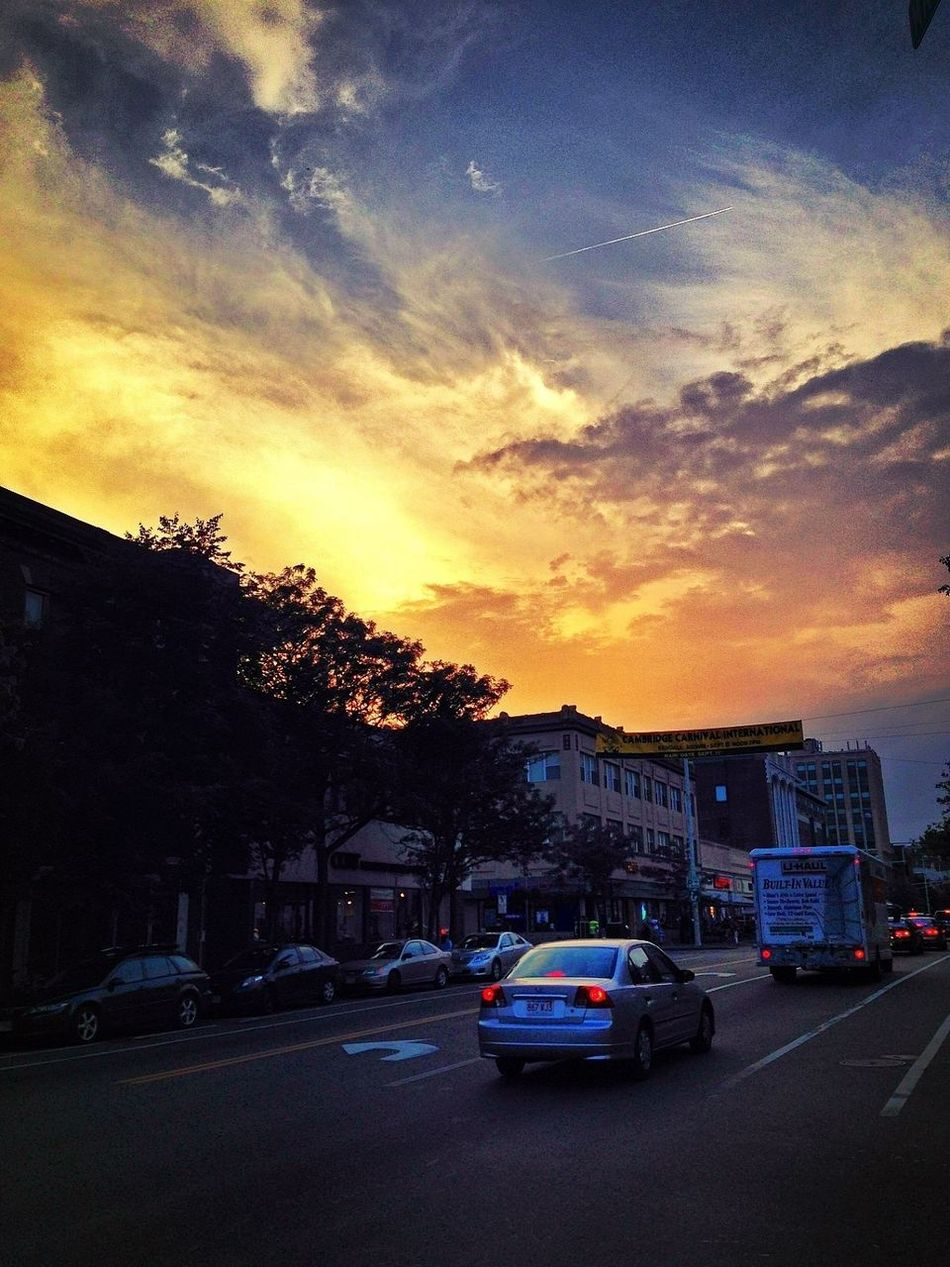 Sunset over Central Sq. after the rainstorm ☀