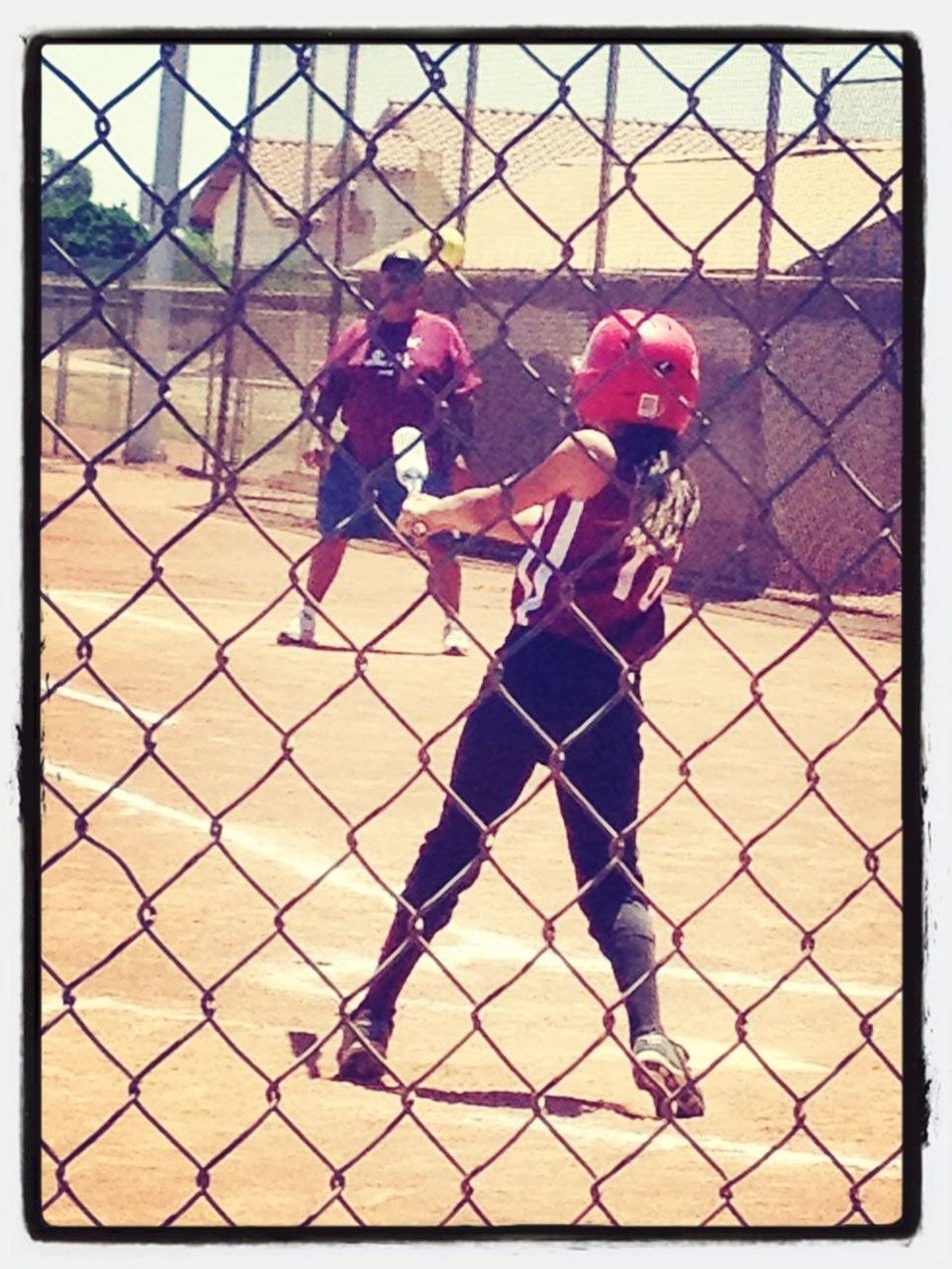 Model And A Softball Plaayer
